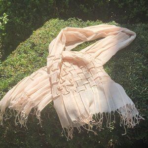 Cole Haan scarf, creamy tan color.